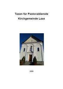 Titel Taxen für Pastoraldienste